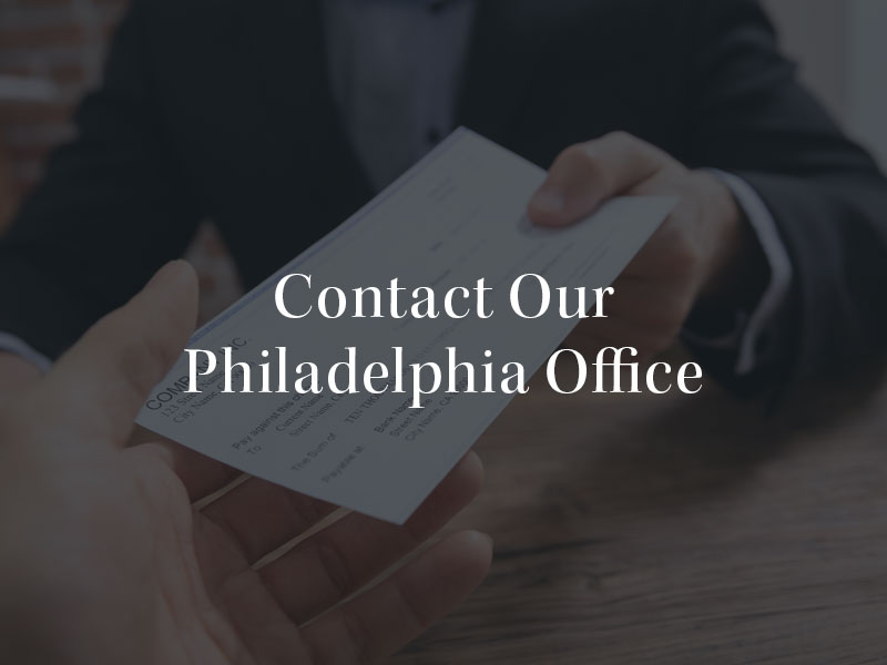 Contact our Philadelphia Office